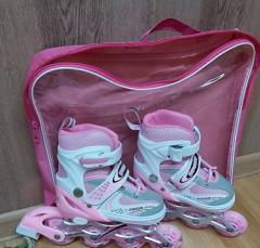 Роликовые коньки раздвижные для детей со