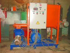 Extruders on production of fuel briquettes...