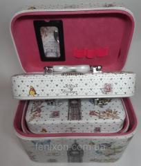Чемоданчики для украшений Vintage набор из 3 шт.