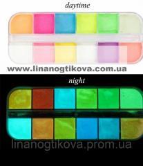 Пигмент светящий для дизайна ногтей