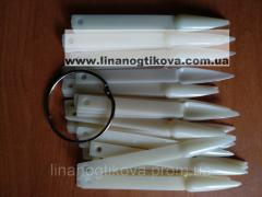 Типсы для образцов гель лак на кольце острые (50