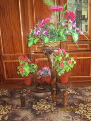 Резьба по дереву деревяни подставки под цветы