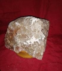 Соляной светильник Галтованная Глыба с коричневым