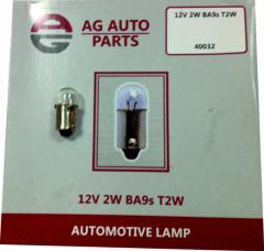 Автомобильная лампа 12V 4W Ba9s T4W, лампы