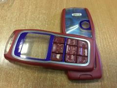Корпус Nokia 3220 красный+клавиатура