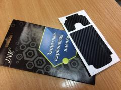 Карбоновая пленка на заднюю крышку Nokia 6700