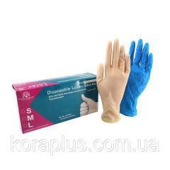 Перчатки латексные/нитриловіе тонкие размер М
