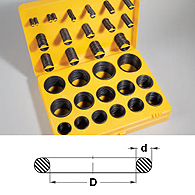Set of rubber rings