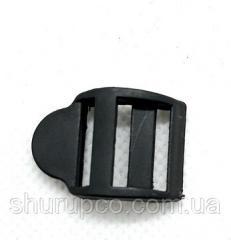 Перетяжка трехщелевая 15 мм пластик черный