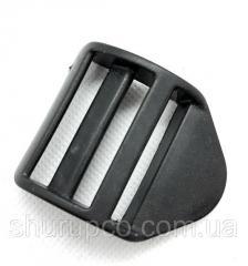 Перетяжка трехщелевая 38 мм пластик черный