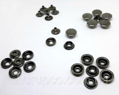 Кнопка 15 мм кольцевая темный никель