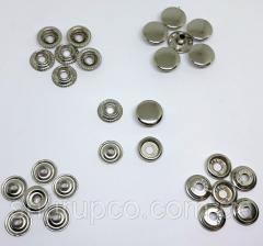 Кнопка 15 мм кольцевая никель