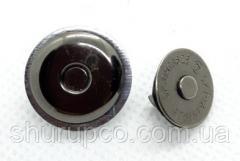Кнопка магнит тарелка 16 мм темный никель