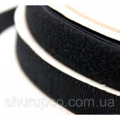Липучка текстильная 50 мм черная (25 м/боб)
