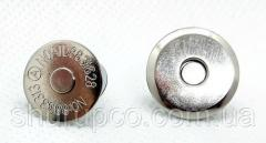 Кнопка магнит тарелка 16 мм никель