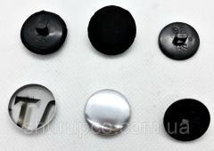 Пуговица под обтяжку 22 мм №36 Черный