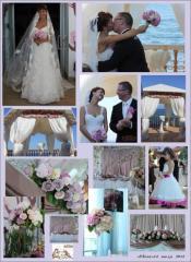 Registration of a wedding fresh flowers,