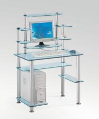 Стеклянные компьютерные столы