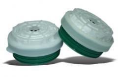 CHUCK -95 A1R1 -05 GPP for respirators. Pylegazozaŝitnyj cartridge in the plastic case. Protection from ammonia, amines