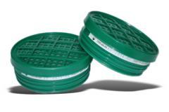 CHUCK UPF -95 -05 K1 to HEPA. Gazozaŝitnyj cartridge in the plastic case. Protection from ammonia, amines