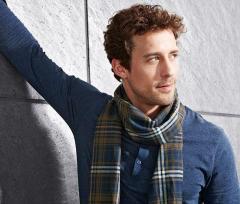 Стильный мужской шарф в клетку Tchibo Германия