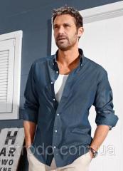Рубашка мужская премиум качество из ткани шамбре