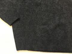 Теплый пуловер с V-образным вырезом (шерсть и