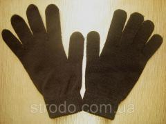 Вязаные перчатки коричневые Тchibo Германия