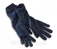Удлиненные вязанные перчатки с люрексом Тchibo