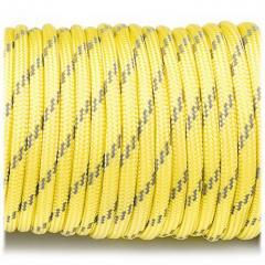 Паракорд Fibex 550 r3019 желтый со светоотраж