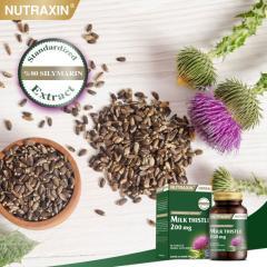 Натуральный препарат NUTRAXIN 'Расторопша' защищает клетки печени, 60 таблеток