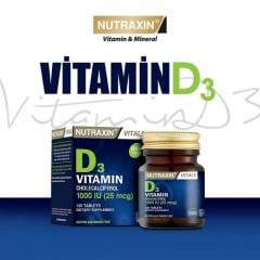 Vitamin D3 Unice NUTRAXIN, 120 tablets