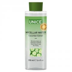 Мицеллярная вода с экстрактом огурца Unice, 250 мл