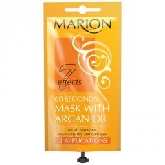 Маска для сухих тусклых волос Marion 7 effects '60 секунд' с аргановым маслом, 15 мл