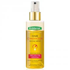 Two-phase hair conditioner BEBAK Argan-keratin,