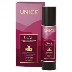 Омолаживающий крем для кожи вокруг глаз и зоны декольте Unice Snail, 50 мл