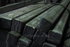 Square preparation of 125х125 mm steel 20