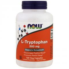 Now Foods, L-триптофан, 500 мг, 120 растительных