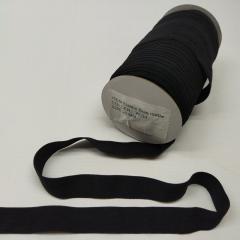 А-039 Трикотажная окантовочная бейка (стрейч. эластичная) 2см х 50ярдов (черная) (СИНДТЕКС-0249)