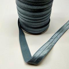 А-003 Трикотажная окантовочная бейка с люрексом (стрейч, эластичная) 1,5см х 50ярдов (серый) (СИНДТЕКС-0255)