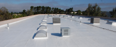 Waterproofing roofing TPO and PVC