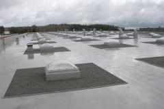 Roof from membrane TPO