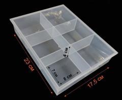(23х17,5х4см) Органайзер-витрина для бисера, бусин, мелочей 6 ячеек (сп7нг-3065)