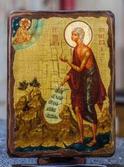 Икона Мария Египетская святая мученица (на дереве)