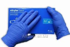 Перчатки Нитриловые М , пара, синие