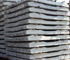 Semi-cross ties are steel concrete