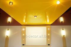 Glossy stretch ceilings