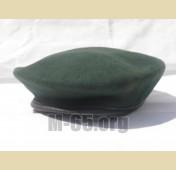 Берет AU, зеленый, черный, фетровый