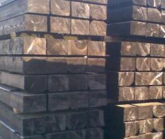 Semi-cross ties for subcrane ways wooden