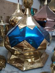 Купол для церкви синий с золотом, нитрид титана